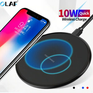 10W wireless charger Qi charger pad adapter For iPhone Samsung universal smart p