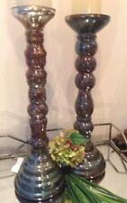 TOP Sale 2 Bauernsilber Kerzenleuchter 31cm  Messeneuheit Shabby braun bronze