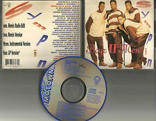 BOYZ II MEN Sympin 4TRX REMIX & EDIT & INSTRUMENTAL  CD Single USA 1992 boys
