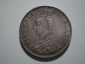 SBE14 Great Britain 1890 silver double florin