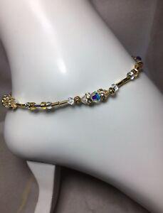 Handmade Healing Swarovski Element Crystal Anklet/Ankle Bracelet USA