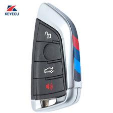 Remote Car Key Fob 4 Button 434MHz for BMW X5 X6 2014-2016 FCC:NBGIDGNG1 Black