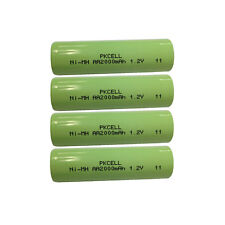 4 AA NiMH Rechargeable Batteries 2000mAh 1.2V Flat Top For RC Toys Camera PKCELL