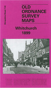 OLD ORDNANCE SURVEY MAP WHITCHURCH 1899 CHEMISTRY WATER GATE MOSSFIELD