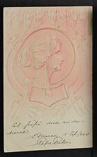 FRANCE 1719-Les Femmes Modernes-En Relief-ART NOUVEAU-New-Gaufré-Embossed-1904