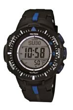 Casio Men's PRG300-1A2 Pro Trek Triple-Sensor Tough Solar Black Digital Watch