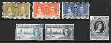 1937 King George VI Coronation & Victory 3 sets x 6 stamps Fine Used SEYCHELLES