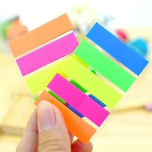 200 Page Highlighter Tabs Sticky Notes Adhesive Index divider Memo Bookmark Mark