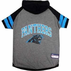 Pet's First NFL Official Carolina Panthers Football Hoodie Tee for Dogs & Cats