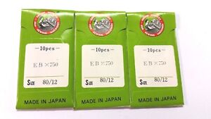30Pcs. Nm. 80/12 ORGAN EBX750 Industrial  Sewing Needles  For REECE S1, S2, S3