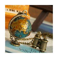Kette Globe Halskette Globus Erdkugel Style Statement lang antik bronze gold