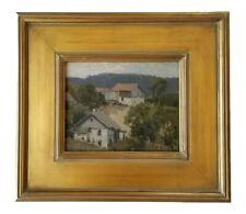 Hans Stoltenberg WISCONSIN Antique Early Rural Landscape Regionalism Painting