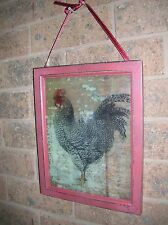 TRANSLUCENT COUNTRY ROOSTER WOODEN WALL PLAQUE