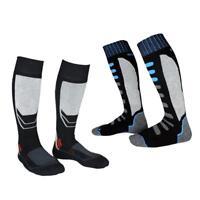 2 Pairs Winter Thermal Long Skiing Snowboarding Sports Towel Socks EU 43-46