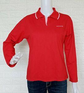 Giordano Women's Polo Shirt Collared Long sleeve Sweatshirt