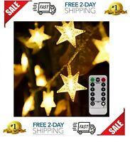Luces de estrellas 50 luces LED Decoraciones navideñas Decora la casa