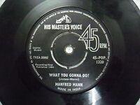 "MANFRED MAN 45 POP 1320 RARE SINGLE 7"" INDIA INDIAN 45 rpm VG+"
