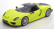 1:18 Minichamps 2015 918 Spyder Weissach Package Light Green Limited 222 pcs.