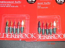 Alderbrook Xmas bulbs-6v 0.72w  coloured ( G4) 2 cards