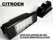 CITROEN BERLINGO AMPOULES LED LEDS ECLAIRAGE BLANC XENON PLAQUE IMMATRICULATION