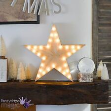 Talking Tables Nordic Wooden 32cm Battery Operated LED Star Christmas Light Home