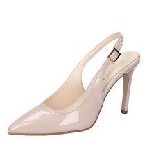scarpe donna OLGA RUBINI 36 EU decolte beige vernice BY286-B