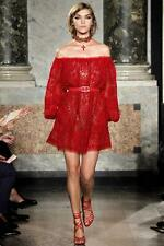 NWT Pucci red Off-the-shoulder silk-chiffon tunic dress  IT 40/US 6; Rtl $2195