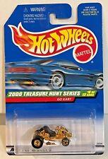 Hot Wheels 2000 Treasure Hunt - White & Gold Go Kart w/Real Riders #6 of 12 LE