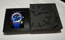 Filippo Loreti Okeanos Series 42mm Rose Gold Blue Rubber Strap Men's Watch NEW