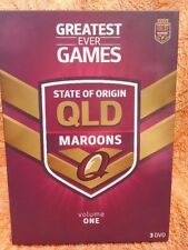 STATE OF ORIGIN QLD MAROONS GREATEST GAMES EVER VOLUME 1,3 X DISC BOXSET R4