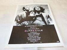 ALPHAVILLE - Publicité de magazine / Advert !!! AFTERNOONS IN UTOPIA !!!