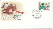 1987 Queens Birthday 36c Stamp Fdi 21 April Bundaberg Qld