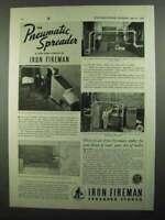 1937 Iron Fireman Pneumatic Spreader Coal Stoker Ad