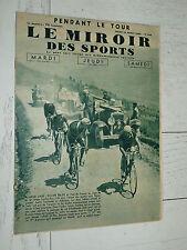 MIROIR SPORTS 1935 N°840 CYCLISME TOUR FRANCE MAES BELGIQUE TOURMALET AUBISQUE