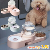 1.8L Automatic Pet Dog Cat Drink Water Dispenser Feeder Food Feeding Bowl Dis