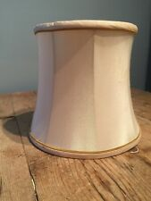 "PRELOVED CHAMPAGNE COLOUR SILK DRUM LAMP SHADE 7"" TALL X 8"" BOTTOM"
