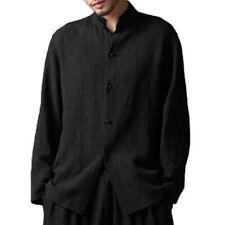 Men's Clothing - Black Vintage Casual Loose Shirt - XL