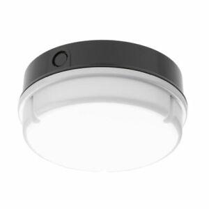 Greenbrook 2DR16BO 'Apollo' Circular Bulkhead Light Fitting 2D Black/Opal 16W