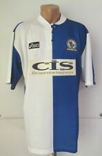 Blackburn Rovers 1996/1997/1998 Home Football Shirt Soccer Jersey 90s Asics (L)