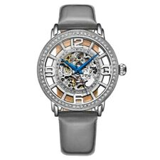 Stuhrling 3941 1 Winchester Automatic Skeleton Crystal Accented Womens Watch
