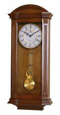 "Wooden Grandfather Style Wall Clock Pendulum Silent Roman Numerals 27.25"" 11.25"""