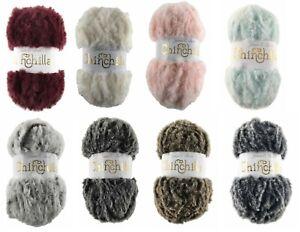 New James Brett Chinchilla fur type yarn 8 Colours