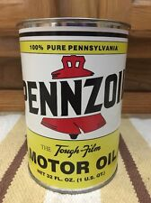 Pennzoil Motor Oil Can 1 Quart Gas Sign Reproduction Vintage Style Pennsylvania