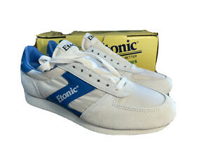 Vintage NEVER WORN ETONIC Enterprise men running shoes Suede White Blue Size 9