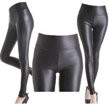Full Length Wet Look Machine Washable Leggings for Women