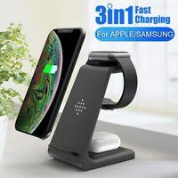 3in1 Qi Wireless Charger Ladestation Induktive SchnellLadegerät Für iPhone