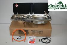 Smev 9222 R/H Campervan Hob and Sink, tap, fitting template, Hose and Regulator