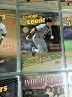 1999 Topps complete 462 cards set Ultra Pro pages & binder W/ Jeter-MINT-HI-END