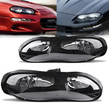 Headlights Assembly Replacement for 98-02 Chevy Camaro Z28 Z28 SS Black Headlamp