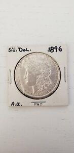 1896 $1 Morgan Silver Dollar Coin USA 1896- A.U.